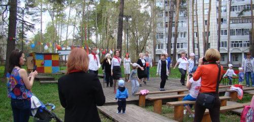 Участники массовой оздоровительной гимнастики